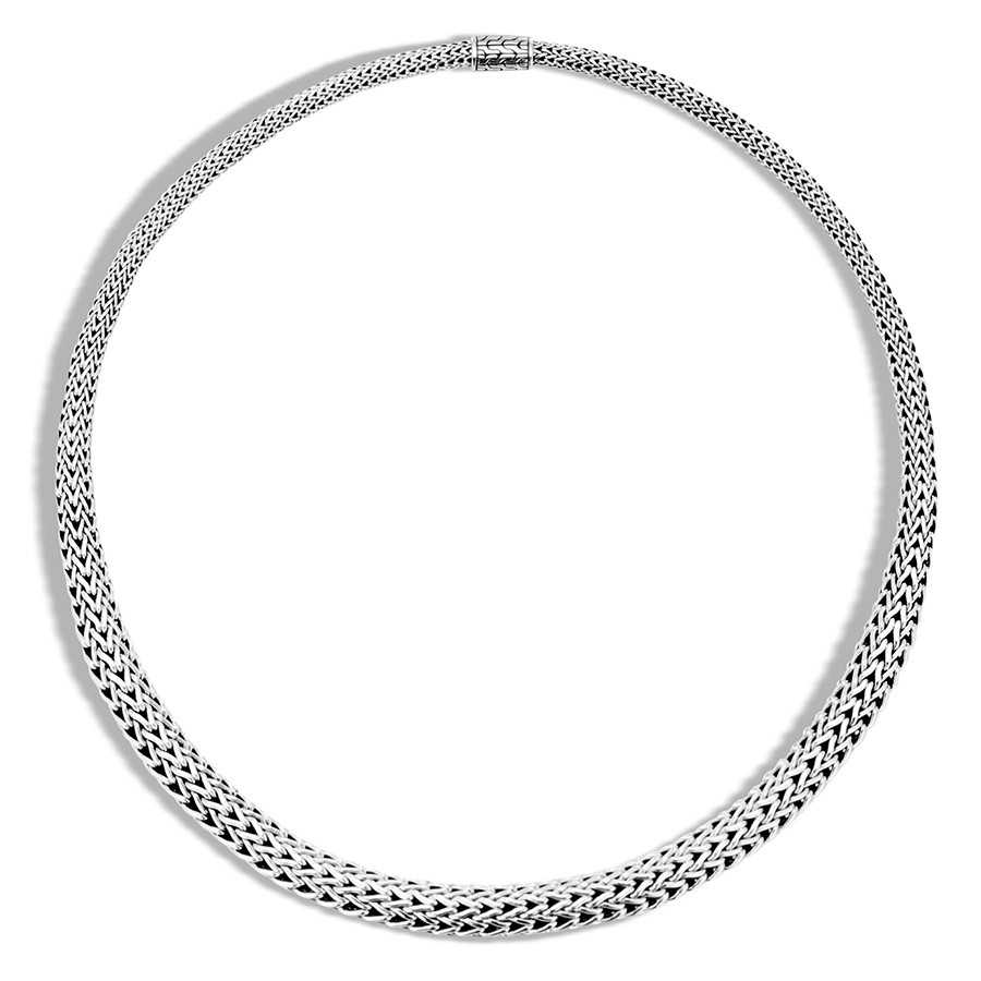 John Hardy Classic Chain Silver Graduate Necklace