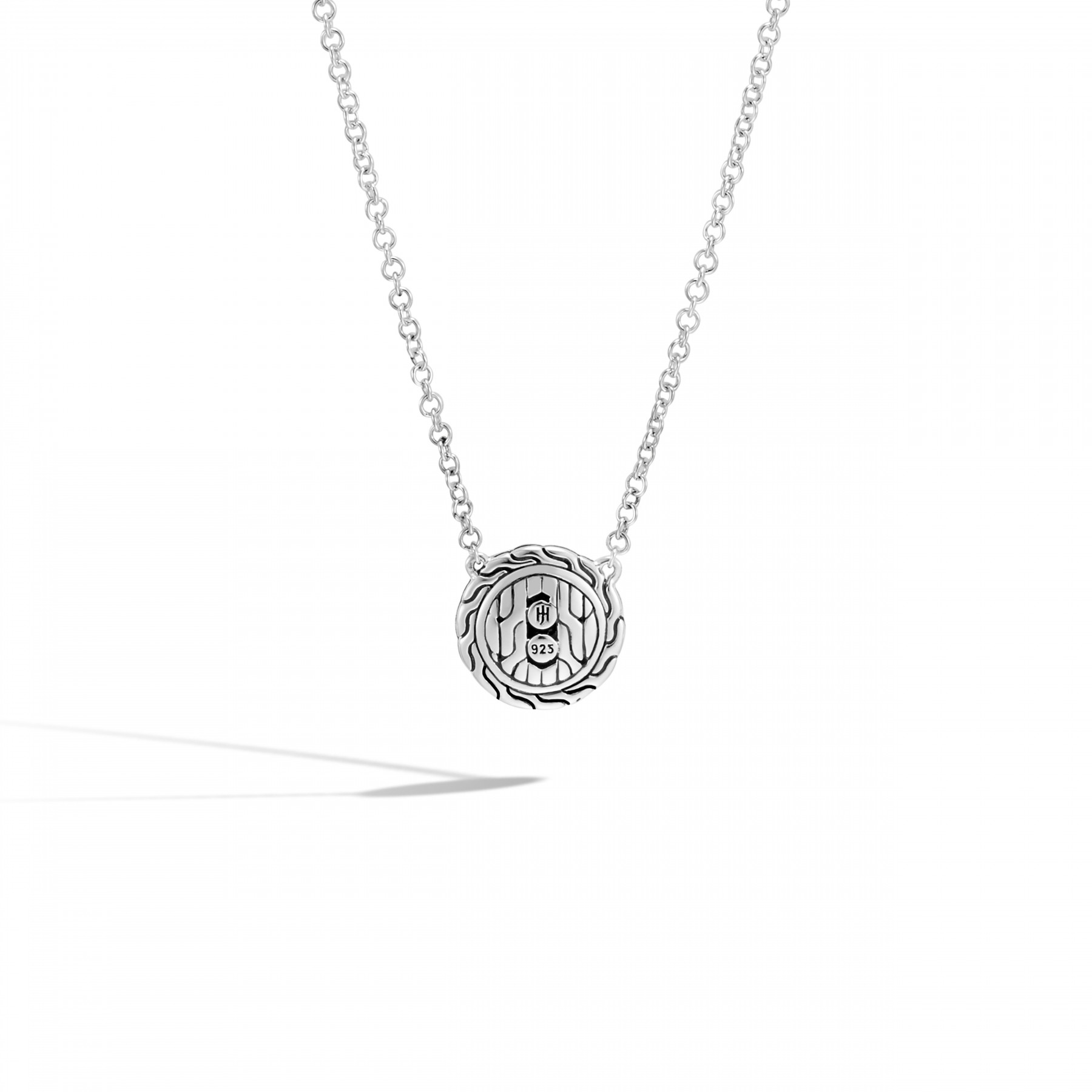 John Hardy Classic Chain Round Diamond Necklace back view
