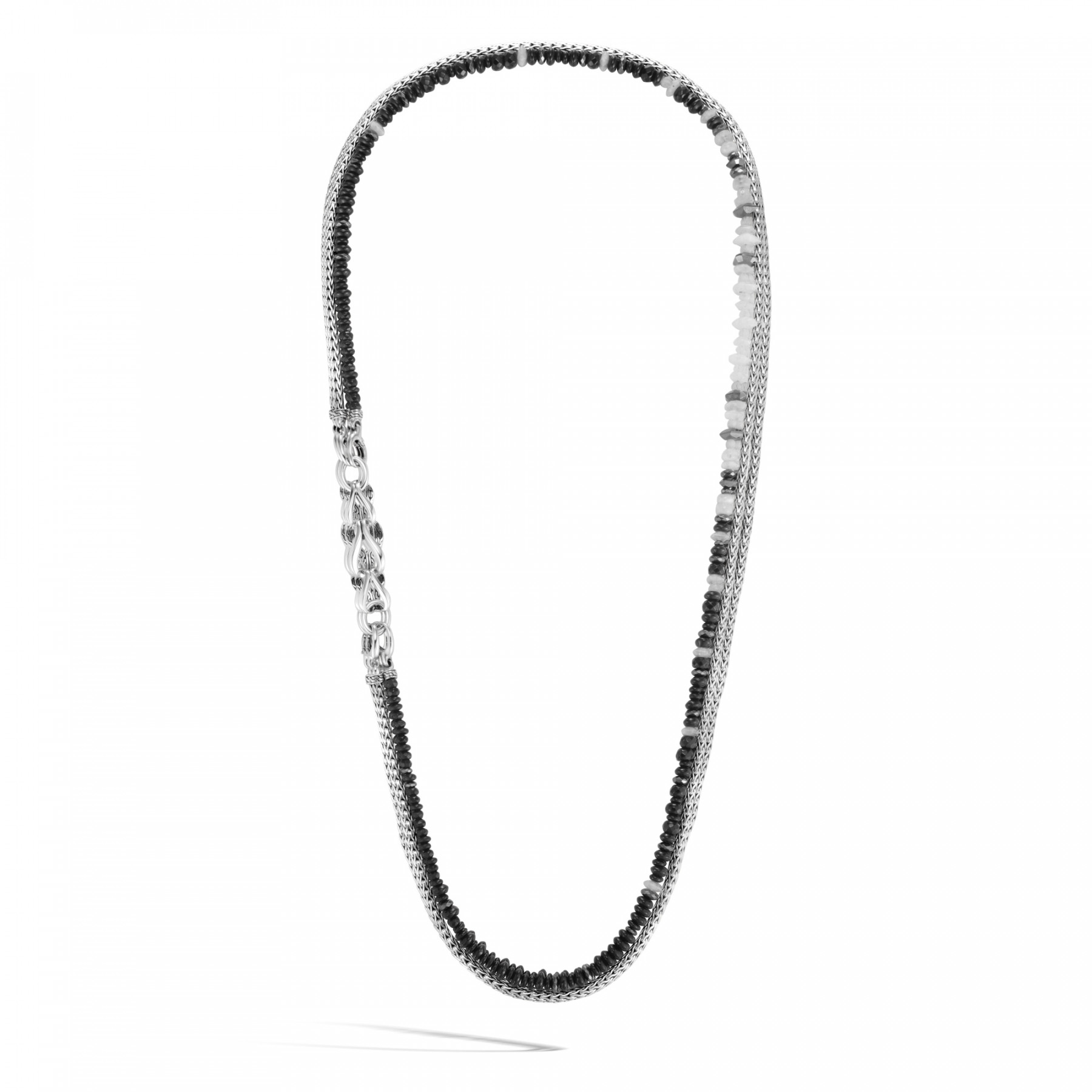 John Hardy Asli Classic Chain Hematite Long Convertible Necklace