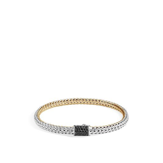 John Hardy Classic Chain Sapphire Two Tone Reversible Bracelet - 5MM image