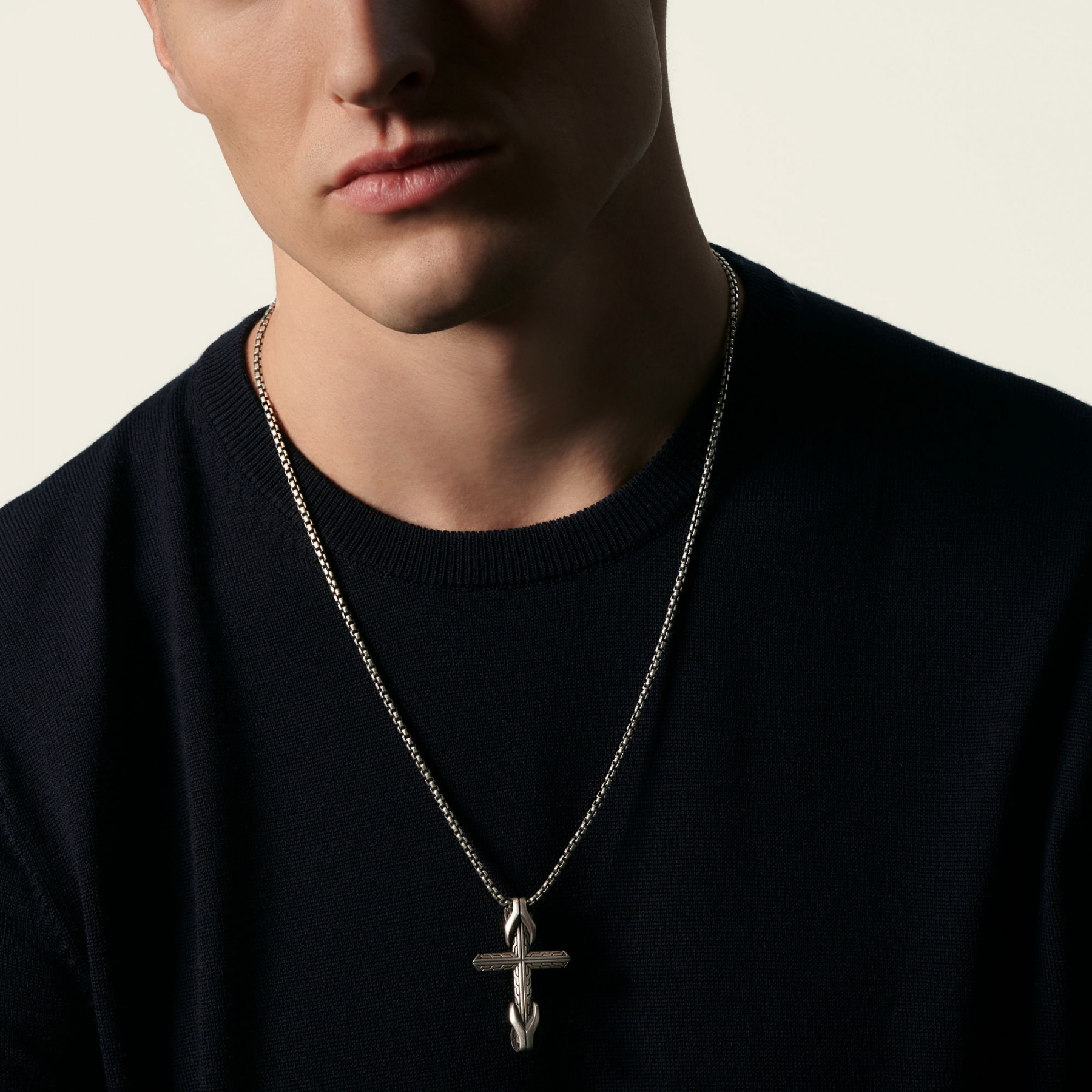 John Hardy Asli Classic Chain Cross Necklace