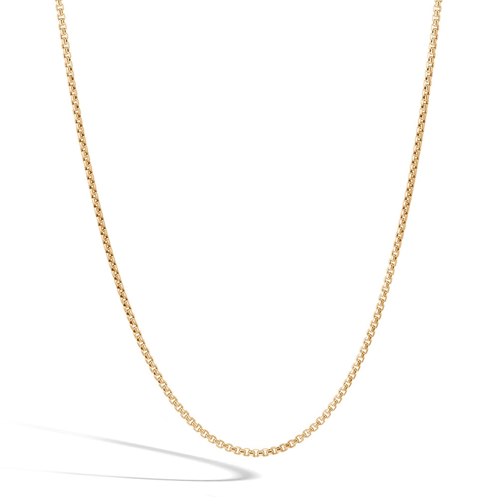 John Hardy Yellow Gold Classic Chain 1.9mm Box Chain Necklace