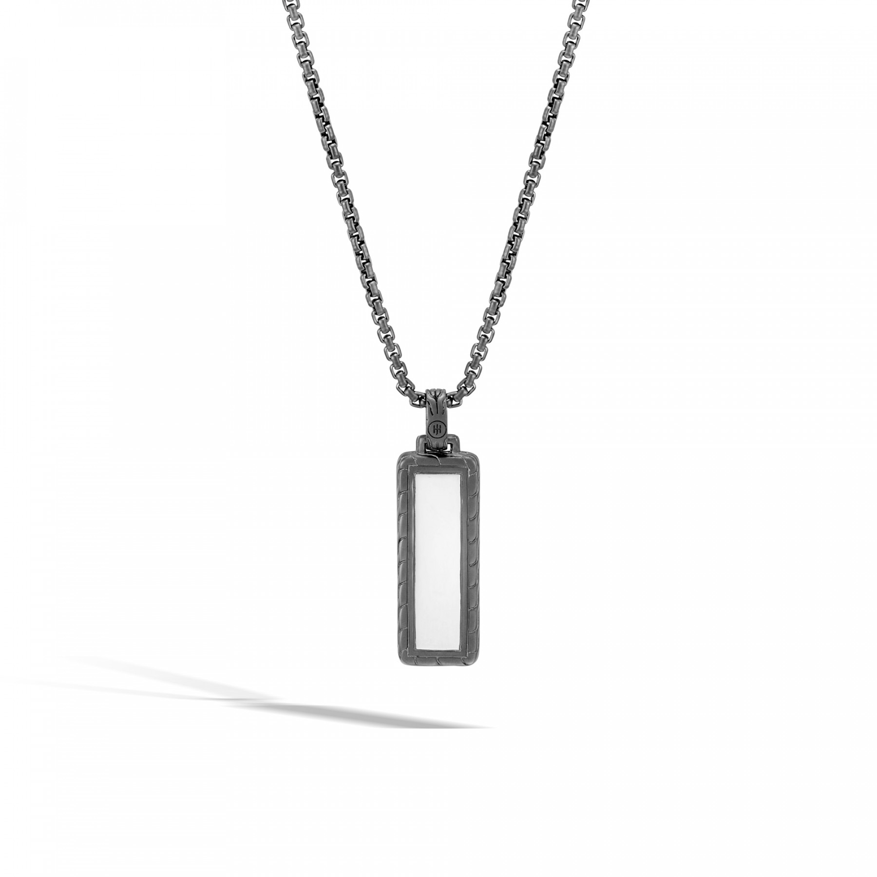 """John Hardy Classic Chain Black Sapphire 24"""" Necklace in Black Rhodium back view"""