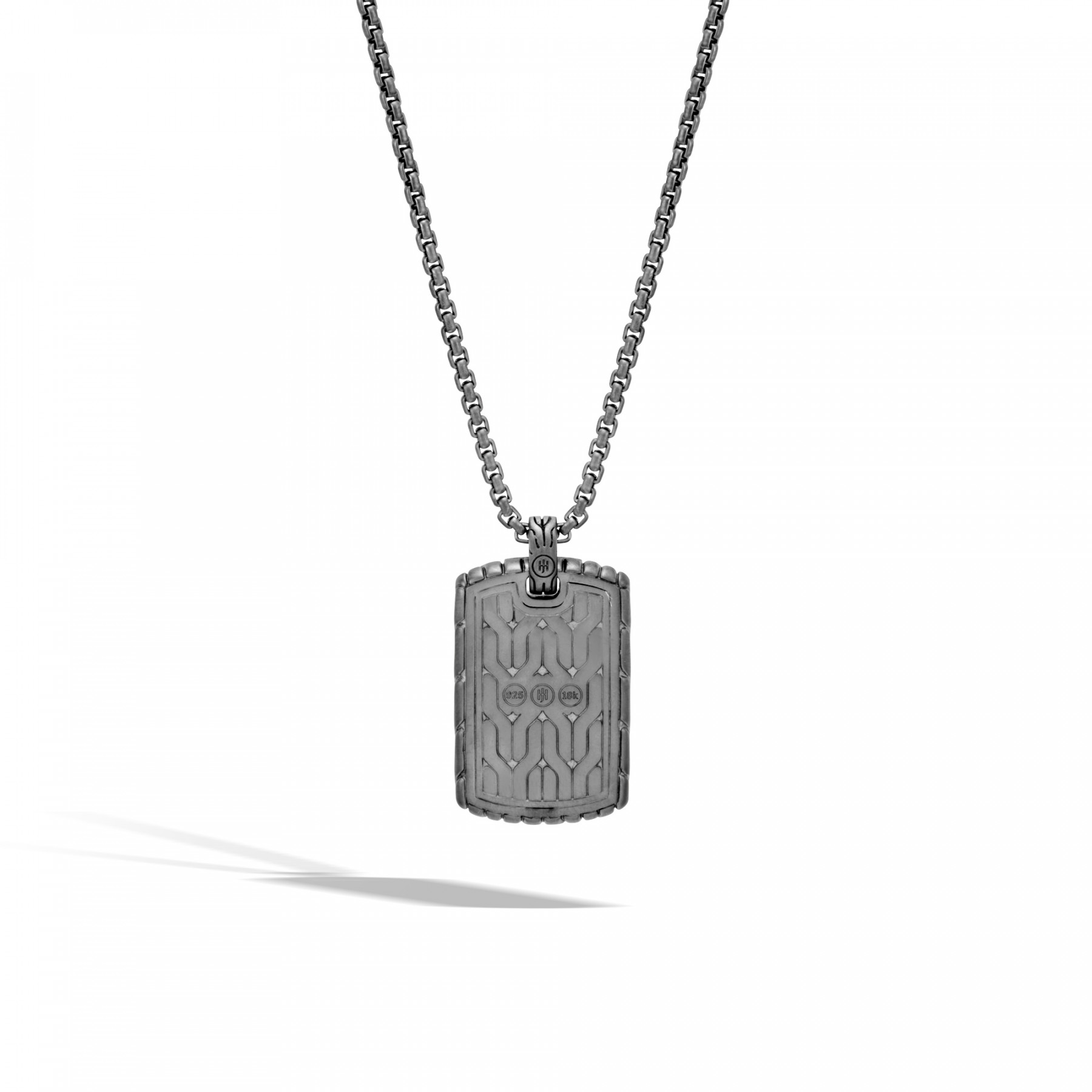 John Hardy Classic Chain Two-Tone Dog Tag Necklace back view