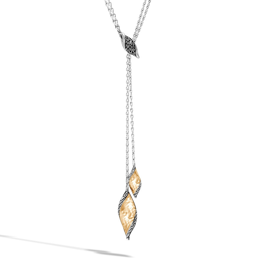 John Hardy Hammered Classic Chain Gold & Silver Lariat Necklace