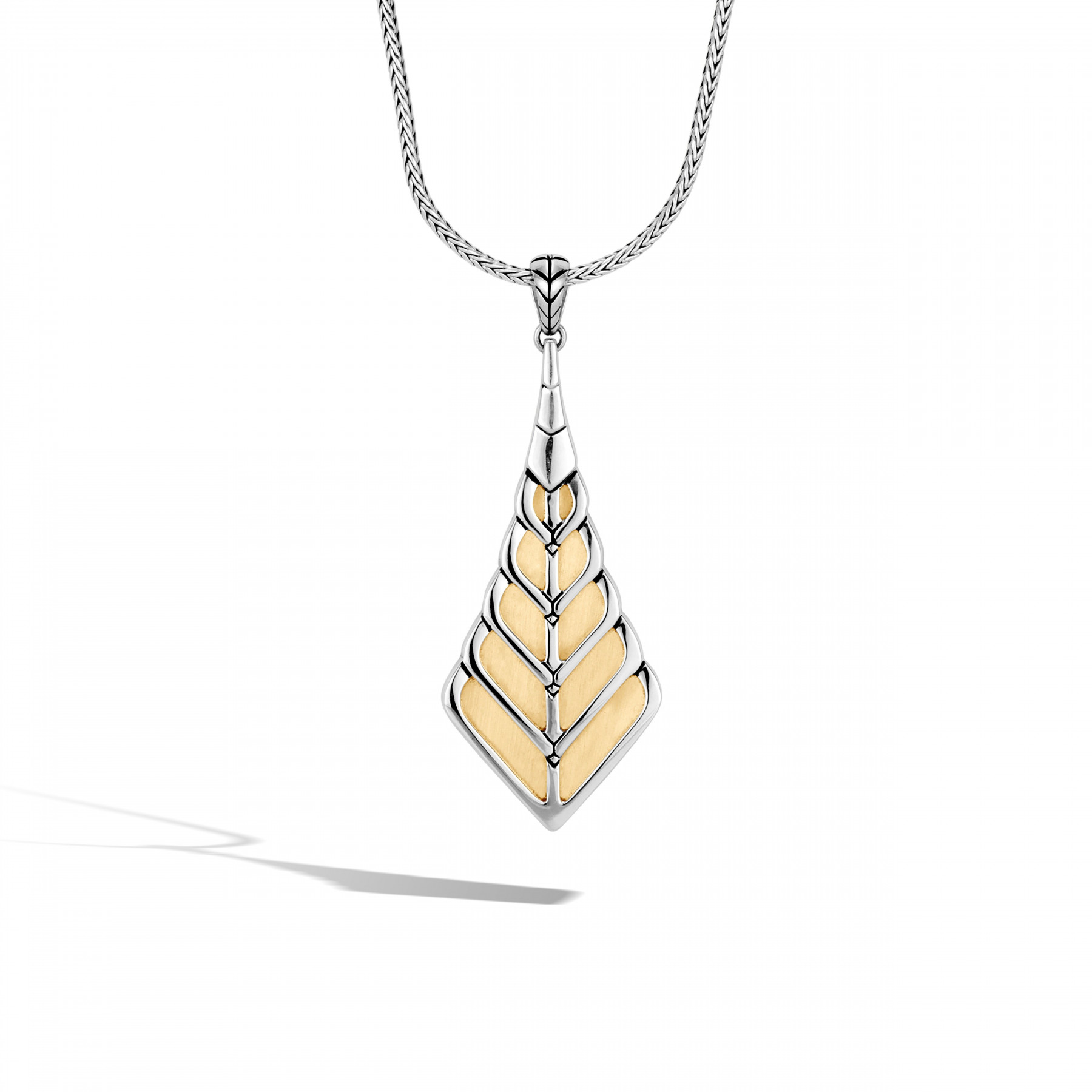 John Hardy Modern Chain Two-Tone Foxtail Necklace