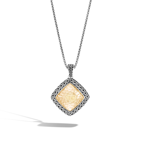 John Hardy Classic Chain Hammered Large Quad Pendant Necklace