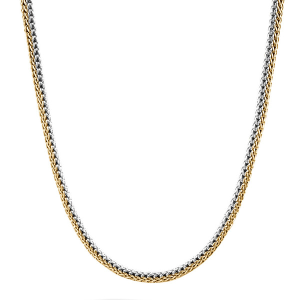 John Hardy Classic Chain Reversible Gold & Silver Extra-Small Necklace