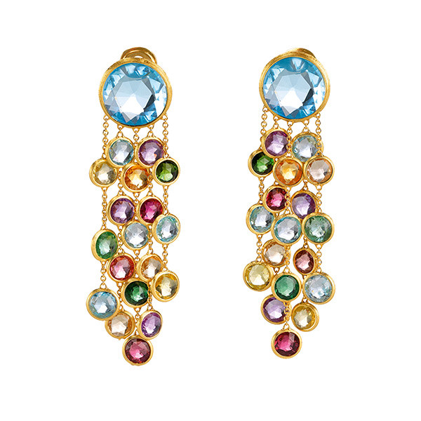 Marco Bicego Mixed Gemstone Tassel Earrings