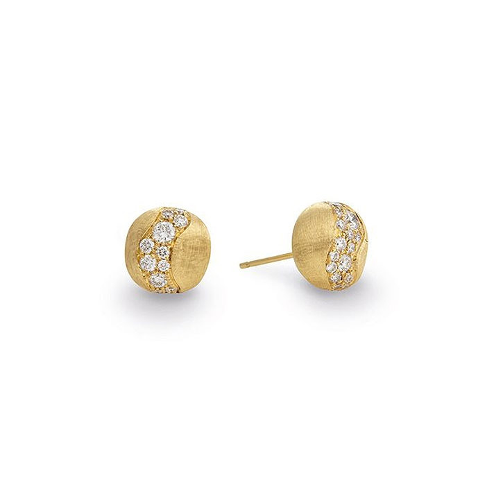 Marco Bicego Africa Constellation Diamond Yellow Gold Stud Earrings