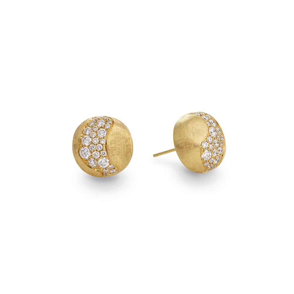 Marco Bicego Yellow Gold Africa Constellation Diamond Stud Earrings