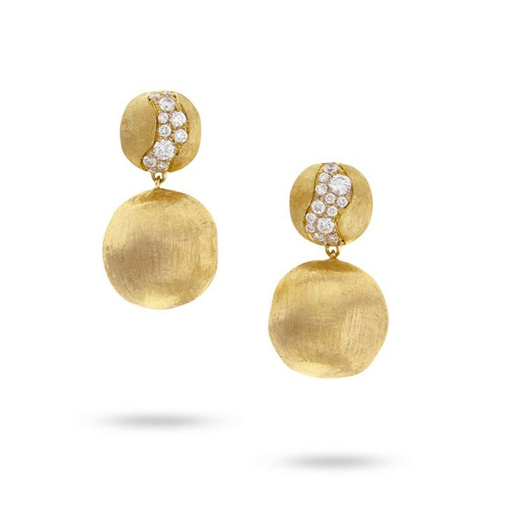 Marco Bicego Africa Constellation Yellow Gold Diamond Drop Earrings