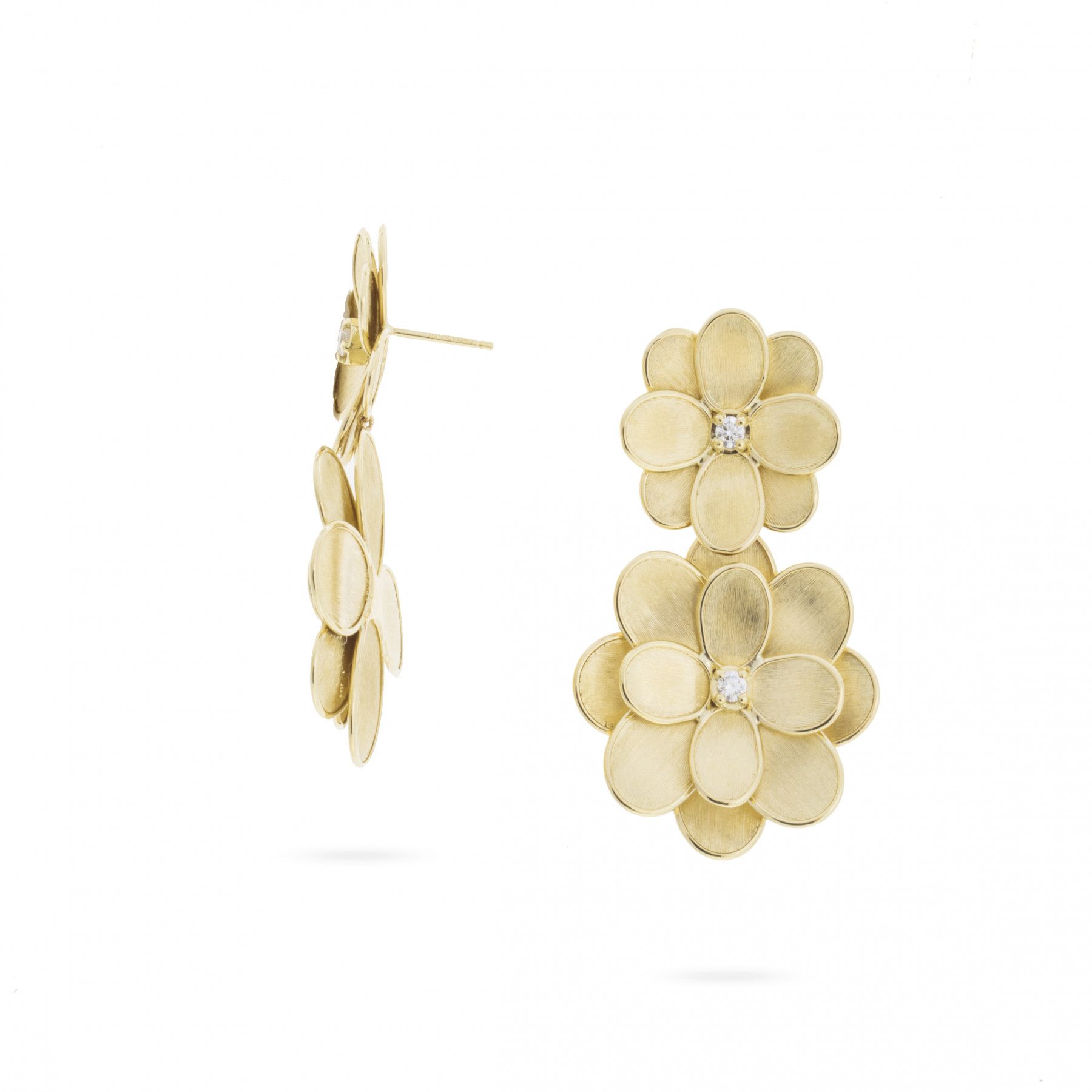 Marco Bicego Petali Double Flower Drop Earrings front view