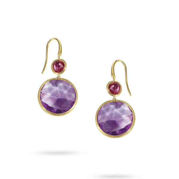 Marco Bicego Jaipur Amethyst & Pink Tourmaline Earrings