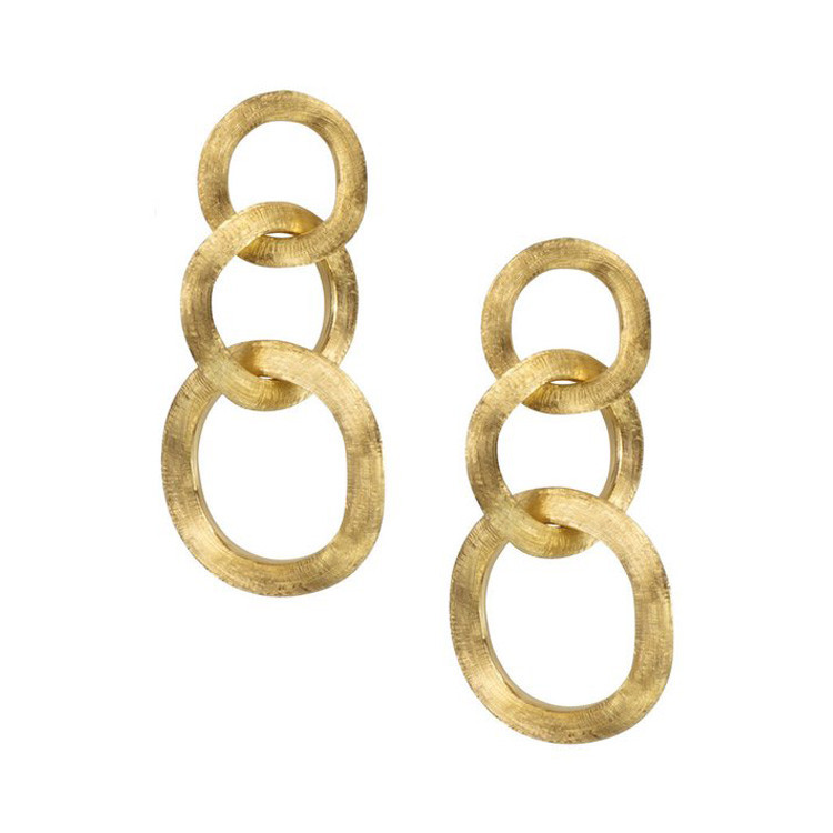 Marco Bicego Yellow Gold Three Link Drop Jaipur Earrings