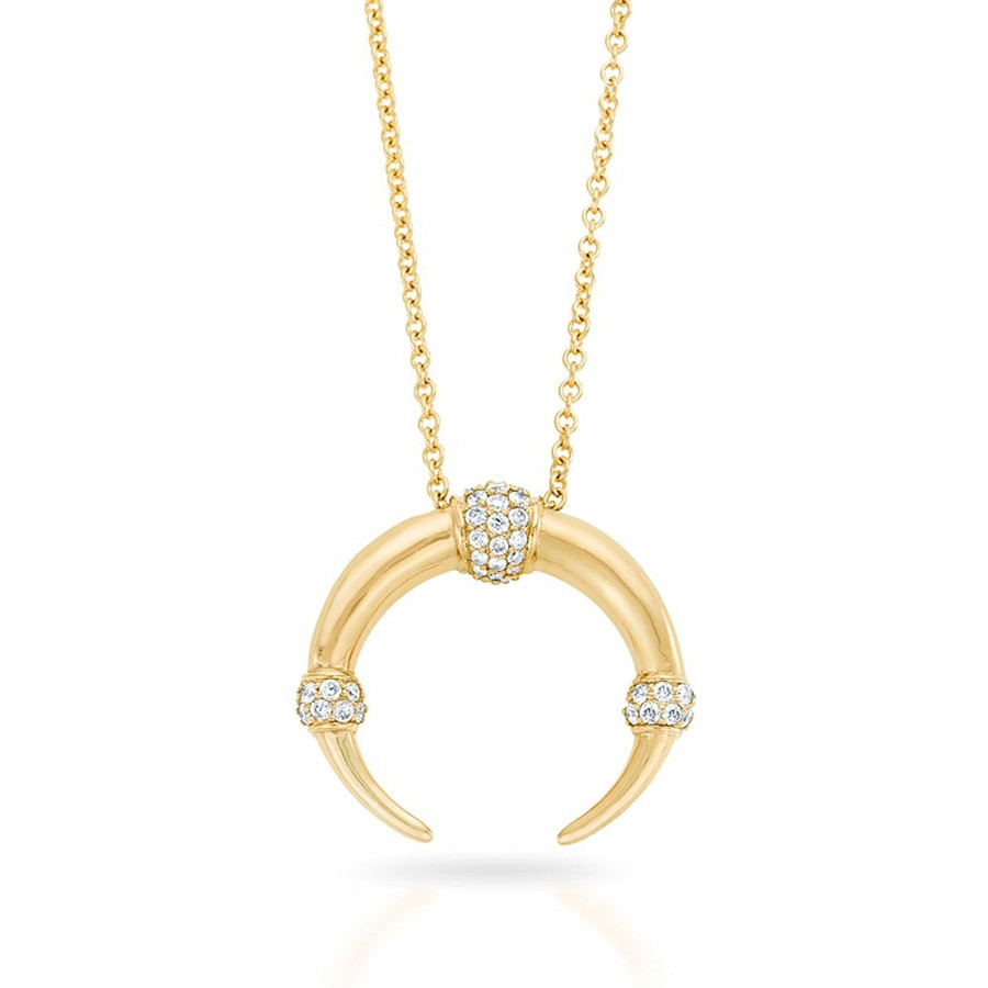 Carbon & Hyde Dharma Yellow Gold Diamond Pendant Necklace