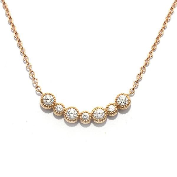 Diamond Small Curved Station Necklace