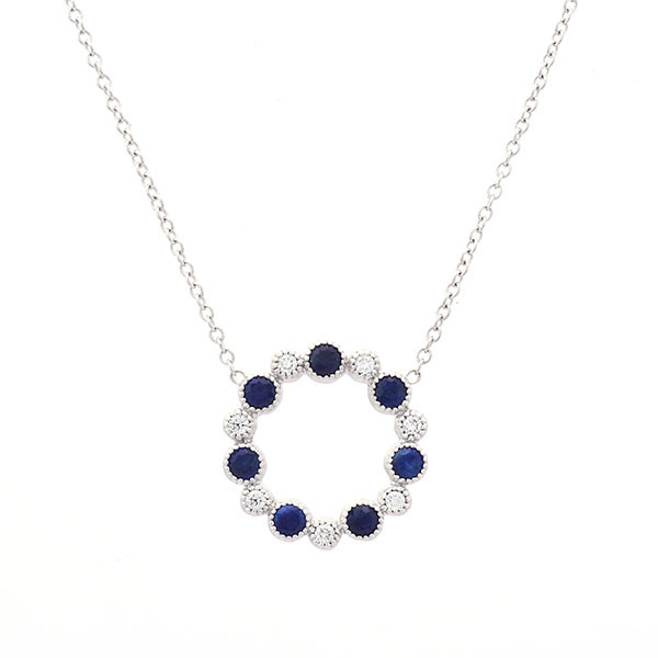 My Story Diamond & Gemstone Circle Station Necklace