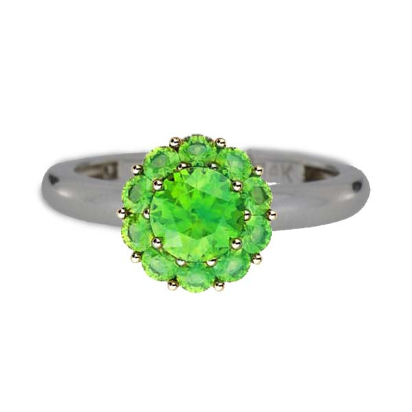 Color My Life Peridot Ring in White Gold
