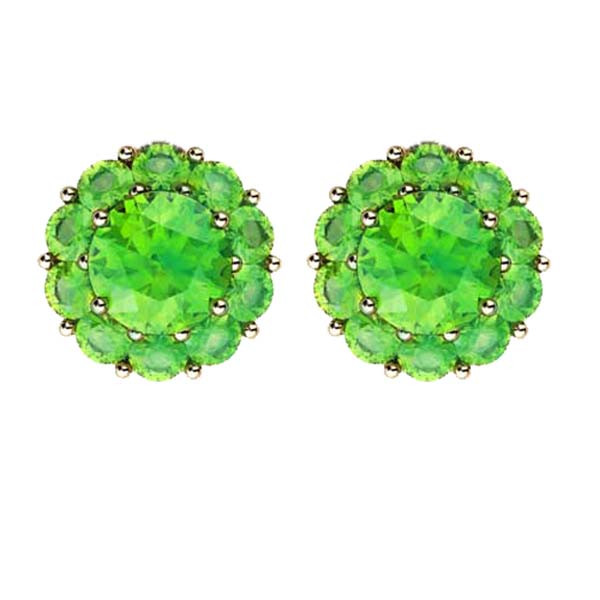 Color My Life Peridot Stud Earrings