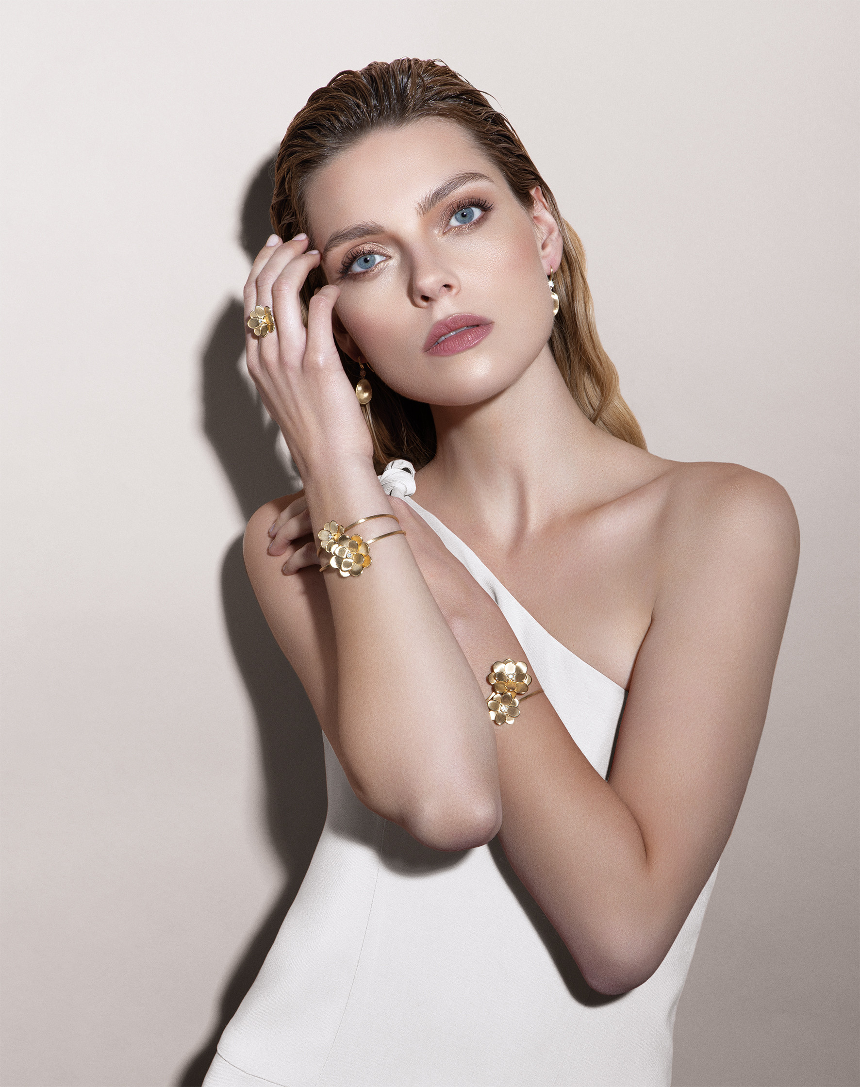 Marco Bicego Petali Diamond Flower Bracelet on model
