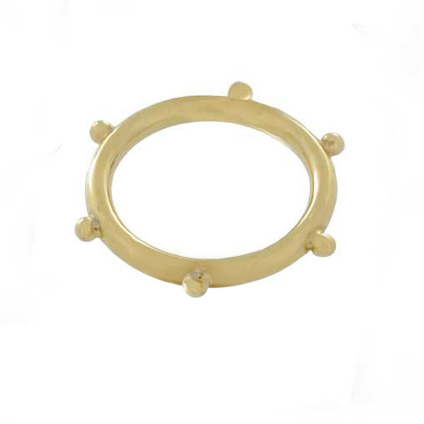 Temple Yellow Gold St. Clair Xtal Granule Ring