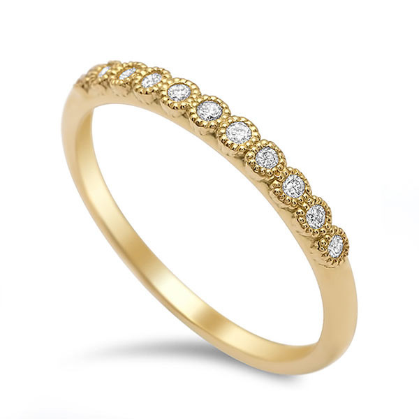 My Story Diamond Miligrain Stackable Ring