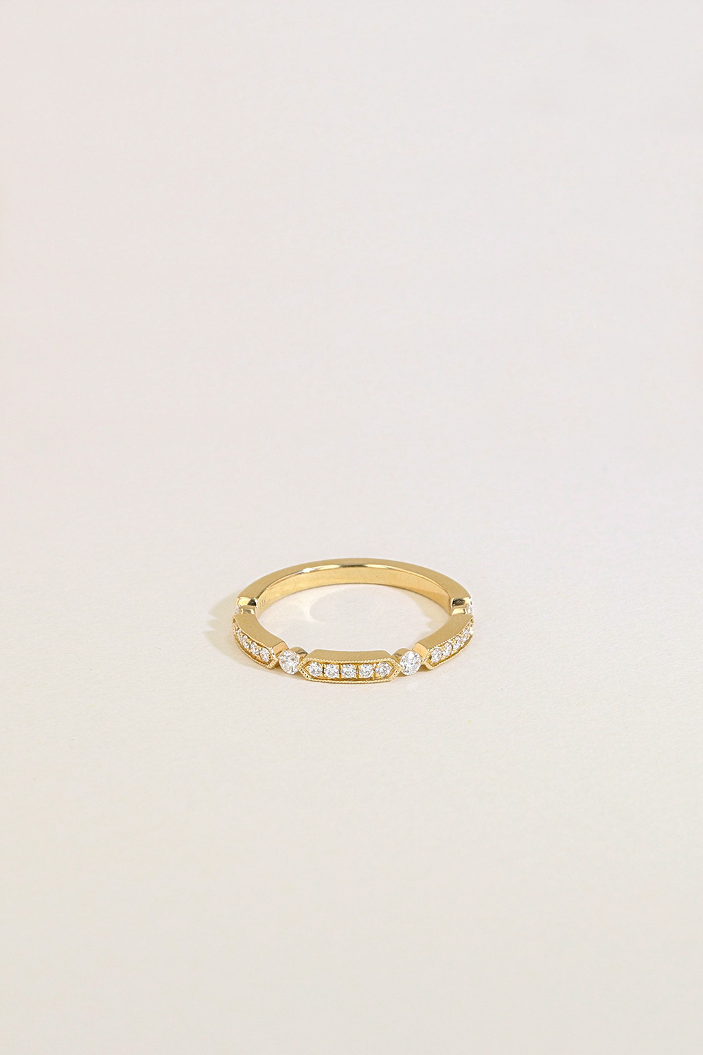 The Modern Diamond Wedding Ring front view