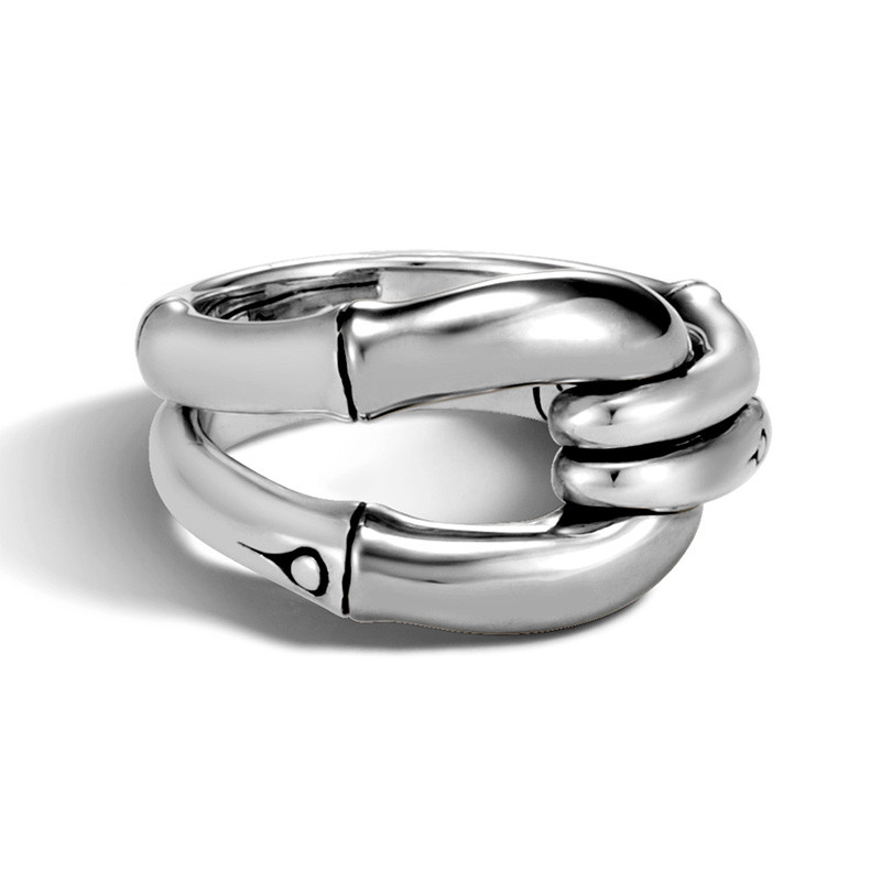 John Hardy Silver Loop Bamboo Ring Top View