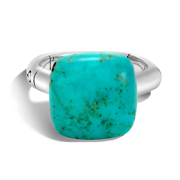 John Hardy Bamboo Turquoise Ring Front View