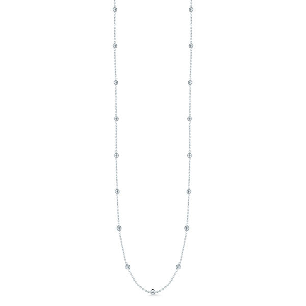 Roberto Coin 18kt White Gold Diamond by the Yard Necklace
