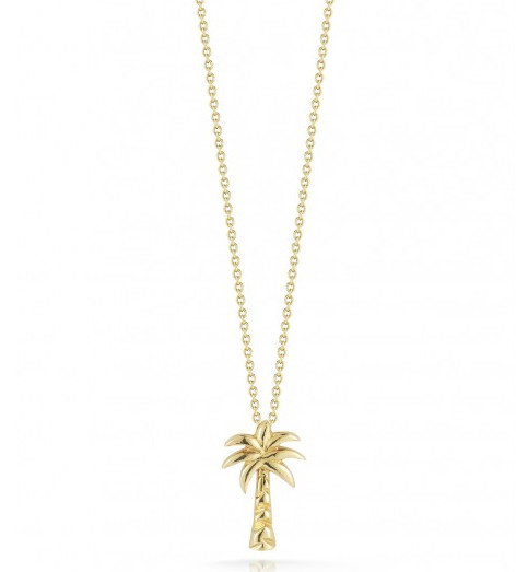 Roberto Coin Tiny Treasures 18kt Yellow Gold Palm Tree Necklace
