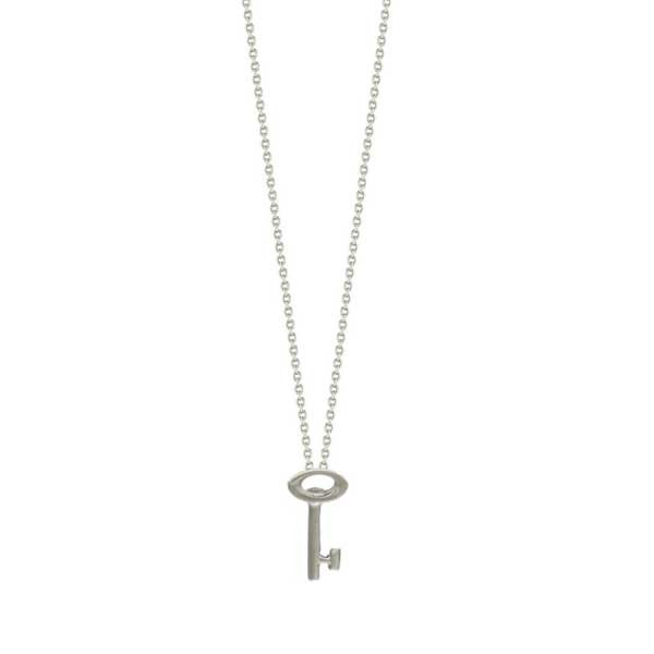 Roberto Coin Tiny Treasures 18kt White Gold Key Necklace