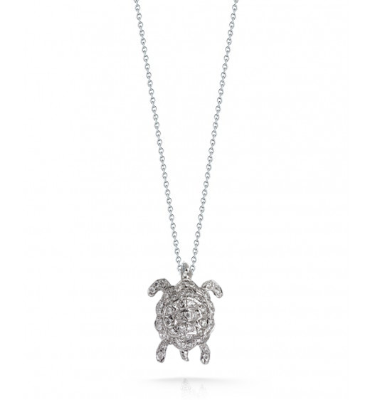 Roberto Coin Tiny Treasures Turtle With Diamonds Necklace