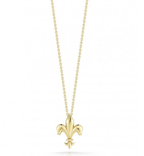 Roberto coin t000376aych00 fleur de lis necklace roberto coin tiny treasures yellow gold fleur de lis pendant necklace aloadofball Image collections