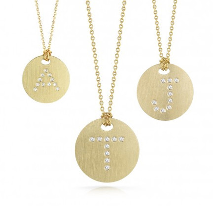 Roberto Coin Tiny Treasures Medallion Necklace 18kt Yellow Gold