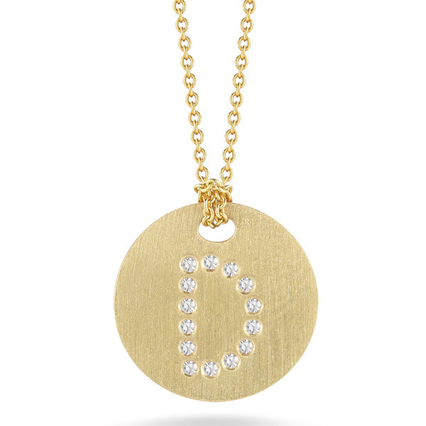 Diamond Initial D Medallion Necklace