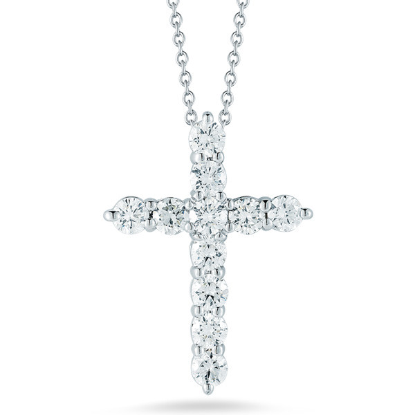 Roberto Coin Small Diamond Cross Necklace