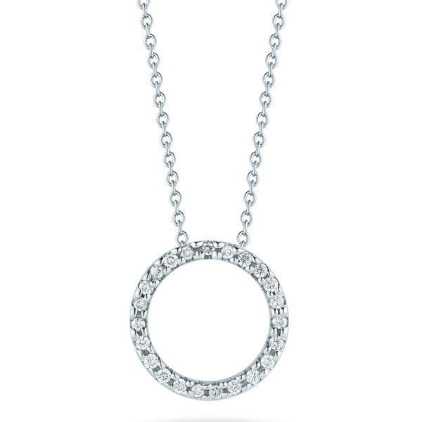 Roberto Coin Diamond Circle Necklace