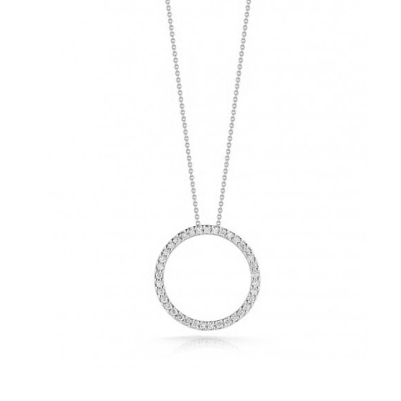 Roberto Coin Tiny Treasure Diamond Circle Necklace