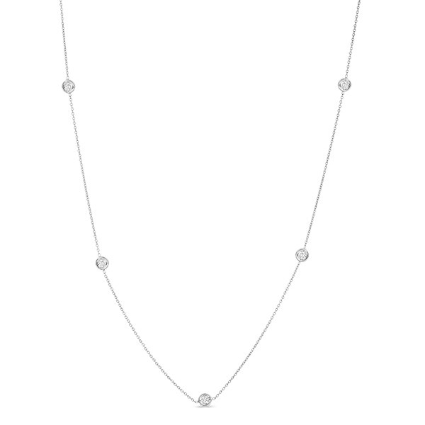 Roberto Coin Diamonds By The Inch White Gold Necklace