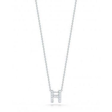 Diamond Initial H Necklace