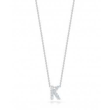 Diamond Initial K Necklace