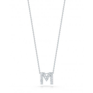 Diamond Initial M Necklace