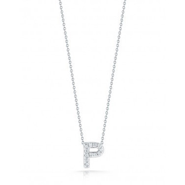 Diamond Initial P Necklace