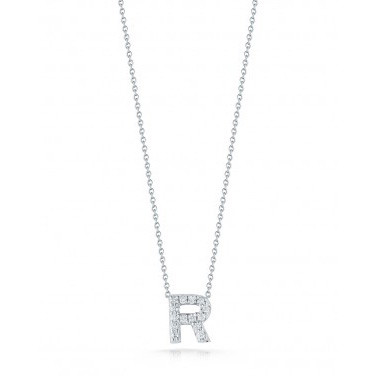 Diamond Initial R Necklace