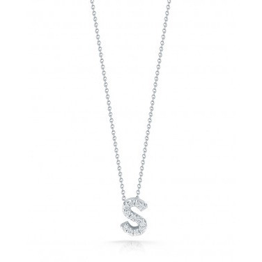 Diamond Initial S Necklace