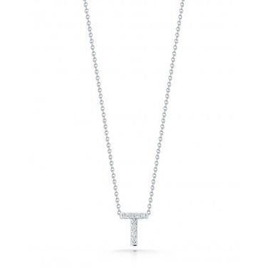 Diamond Initial T Necklace