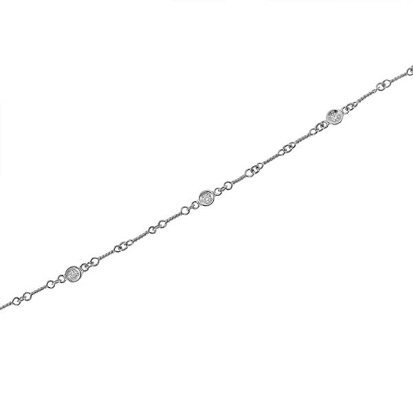Roberto Coin Diamond Station Anklet