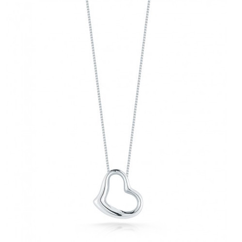 Roberto Coin Heart 18Kt White Gold Necklace